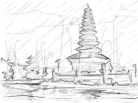 sketchbook jakarta sketch of a temple in bali by podosuko on deviantart
