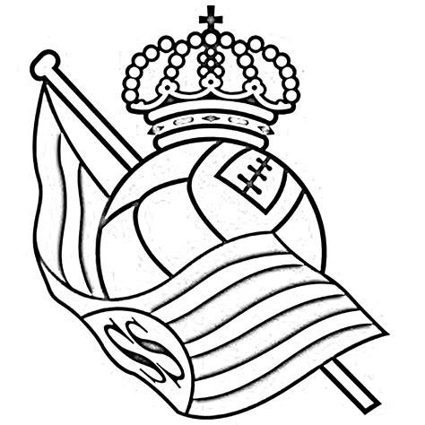 escudo del madrid para colorear az dibujos para colorear free coloring pages of real sociedad