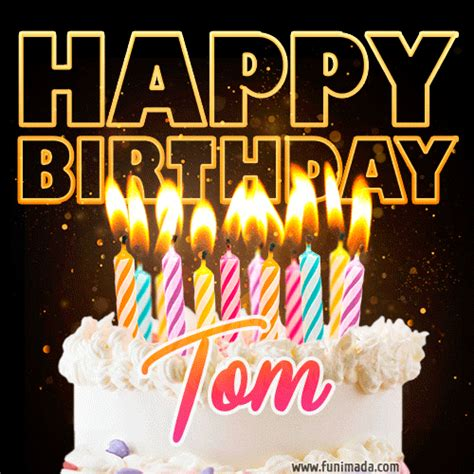 tom animated happy birthday cake gif  whatsapp   funimadacom