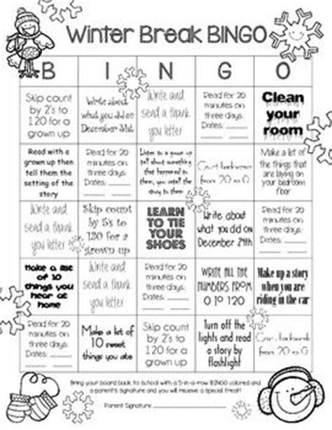 Writing Homework For Grade by Winter Homework Bingo For Grade This Simple