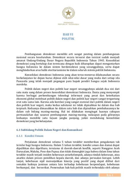 Buku 70 Tahun Mengurai Persoalan Bangsa Indonesia Merdeka Sebuah Agend buku ii bab vi rpjmn tahun 2010 2014