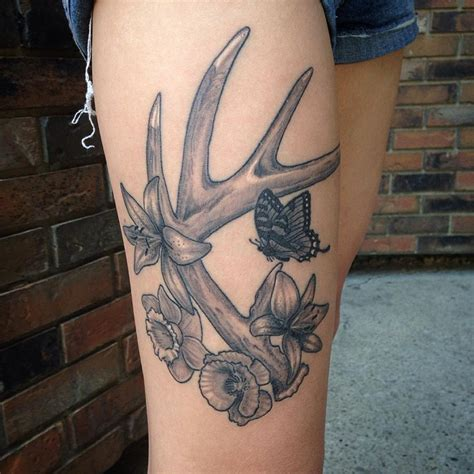 deer horn tattoos 21 deer antler designs ideas design trends
