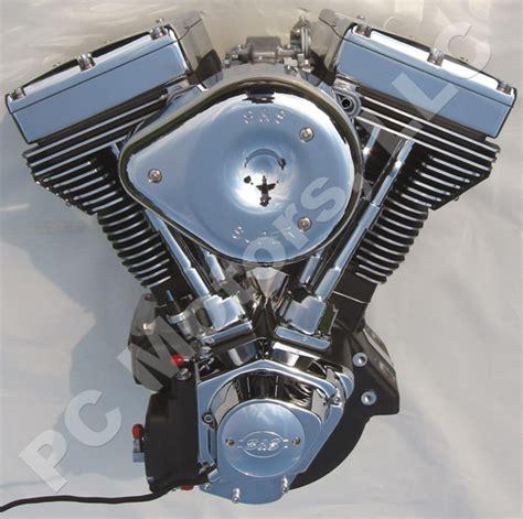 chrome motor 120 ci black chrome finish engine motor evo harley s s