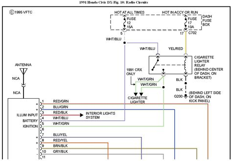 95 honda civic radio wiring diagram wiring diagram with