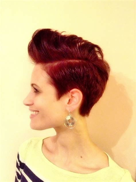 pompadour hairstyle pictures for women undercut pompadour women