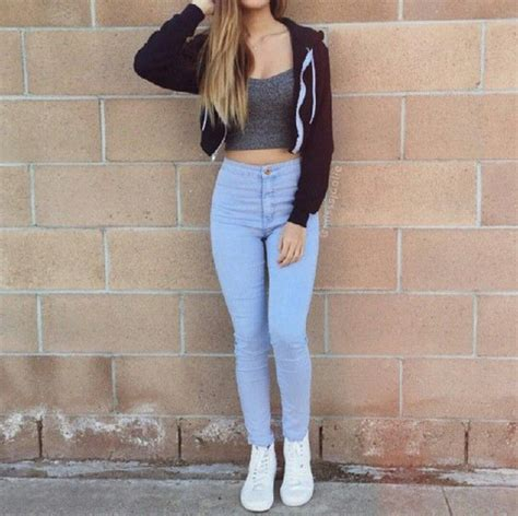 Ripped Boyfriend Ck 915 716 top white shoes and lazy days