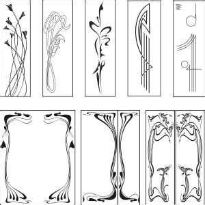 printable art deco designs public domain art nouveau paterns free graphic downloads
