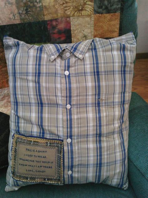 Pillow Blouse Bd T1310 memory shirt pillow w collar poem patch remember loved ones now missing from your elk