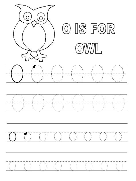 letter o worksheets for preschool activity shelter