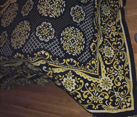 pattern in spanish heavy double woven wool bedspread in a spanish tile