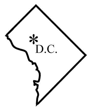 washington dc map silhouette maps of washington d c