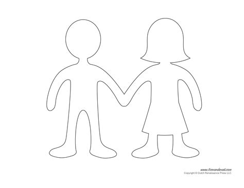 How Do You Make A Paper Doll Chain - printable paper doll templates make your own paper dolls