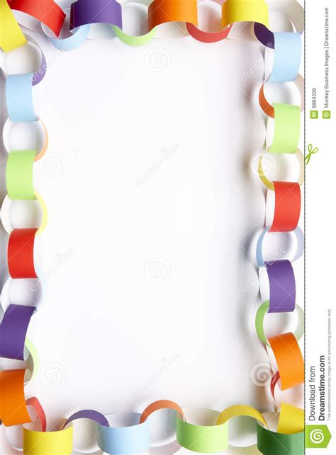 How To Make A Paper Border - border made from paper chains royalty free stock images