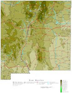 map of new mexico new mexico contour map