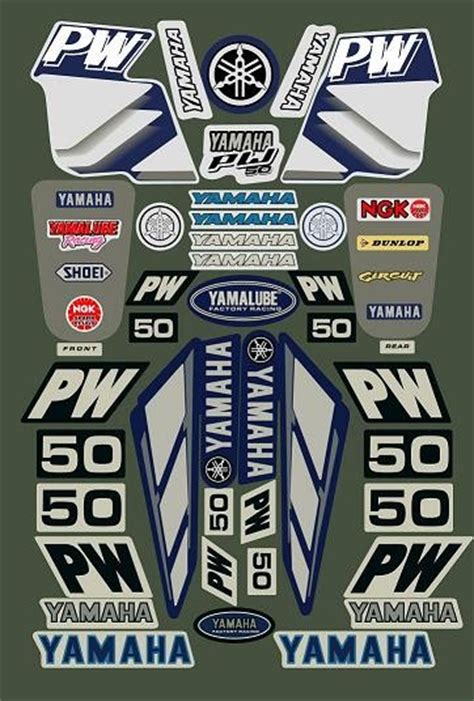 Sticker For Yamaha Pw50 by Yamaha Pw50 Decal Sticker Kit