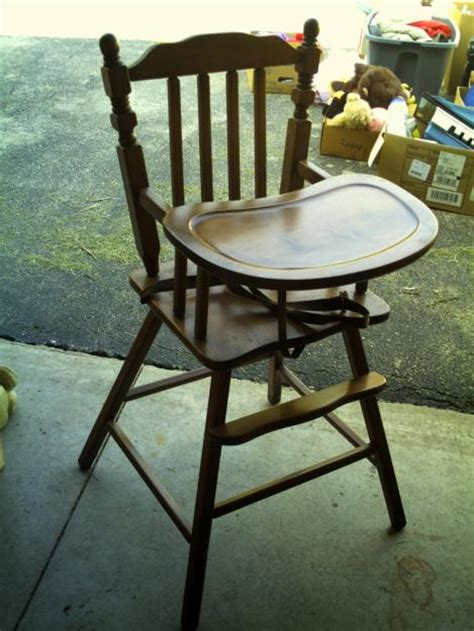 Wooden Vintage High Chair drab to fab vintage high chair rev