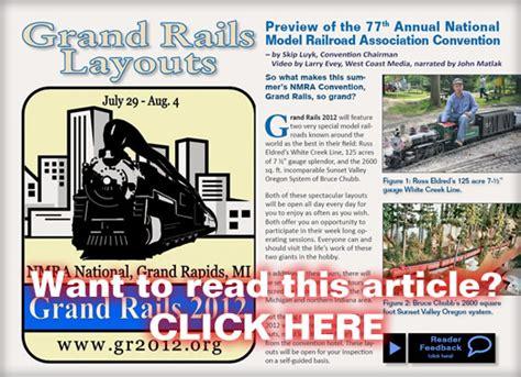 layout none rails grand rails layouts model railroad hobbyist magazine