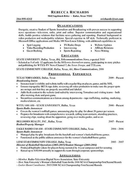 Resume Sles Internship College Students Intern Resume Exle Resume Exles Resume And Resume Skills