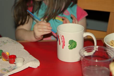 how to paint a porcelain fun holiday kid s craft painted mugs momadvice