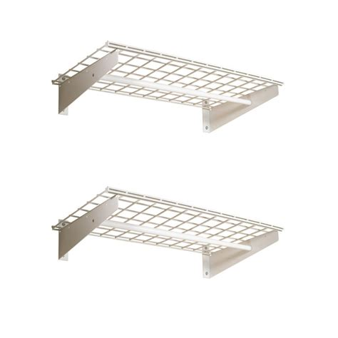 Hyloft Shelf by Hyloft 2 Shelf Wall Storage System 18 In X 36 In White