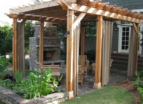 pergola with curtains pergola curtains moving into a new home pinterest