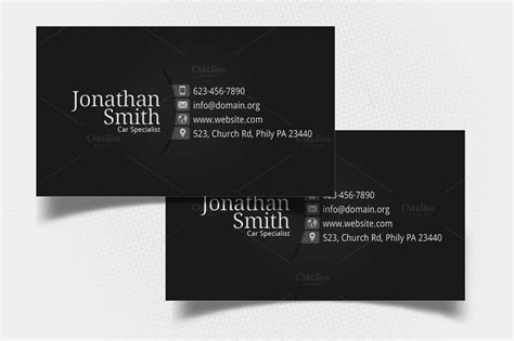 Great Personal Card Templates by Black Grey Personal Business Card Business Card