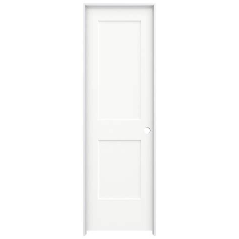 Jeld Wen 24 In X Jeld Wen 24 In X 80 In White Painted Left Smooth Solid Molded Composite Mdf