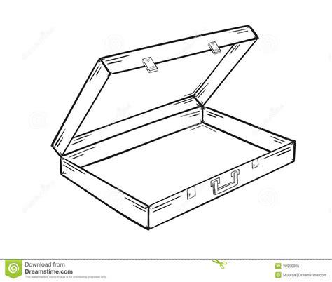 open sketch open empty suitcase stock vector image 38956805