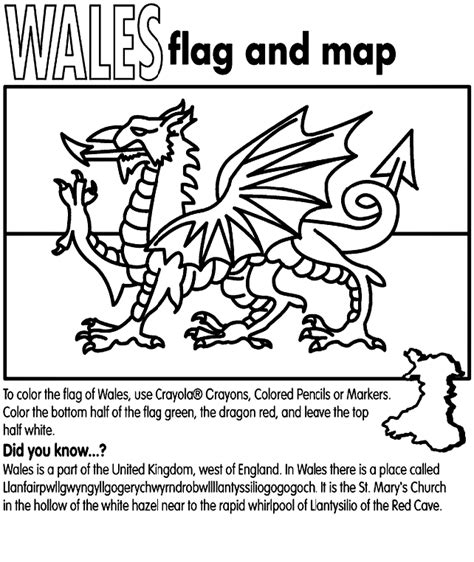 welsh dragon coloring page wales crayola co uk