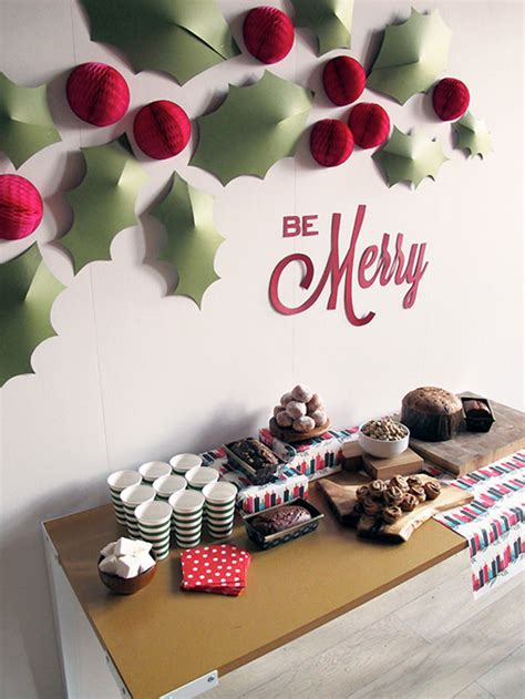 christmas wall decorating ideas christmas decorations 20 diy ideas you should try hongkiat