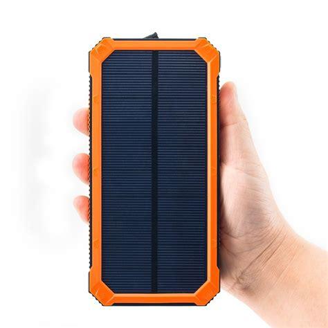 Power Bank Solar Cell 15000mah solar cell phone charger tomsenn 15000mah solar power bank portable dual usb outdoor external