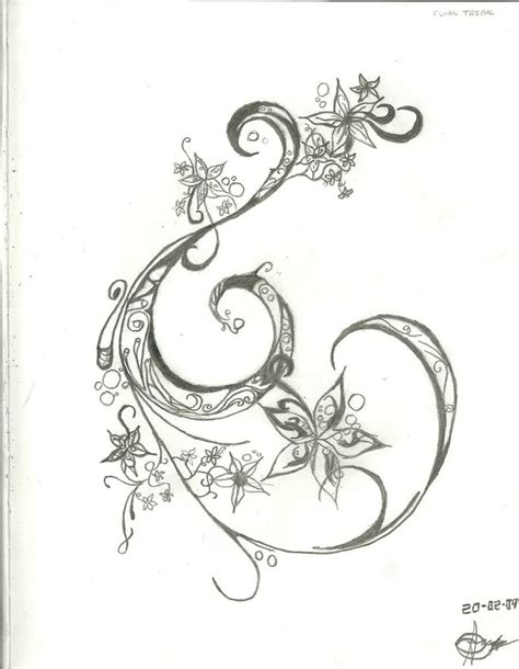 swirl design tattoos swirl and flower design