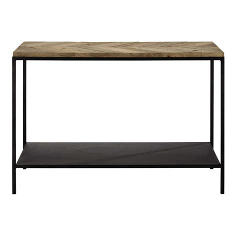 wood and metal console table recycled wood and metal console table in black w 119cm
