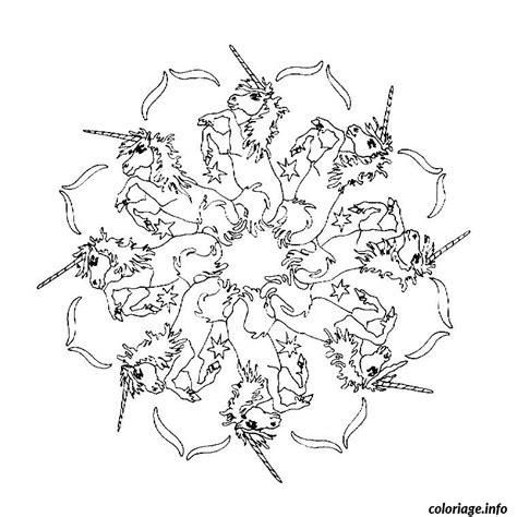 Coloriage Mandala Licorne Dessin