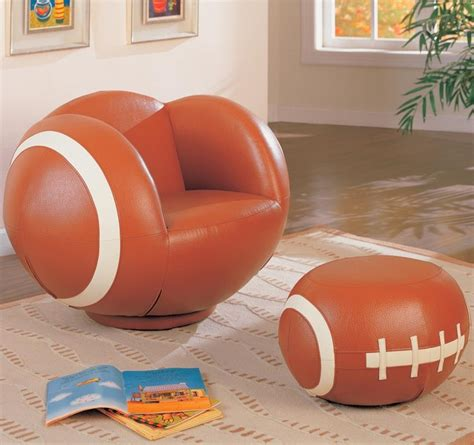 Soccer Chair And Ottoman Sports Chairs Large Football Chair And Ottoman By Coaster Modern Room And Bar