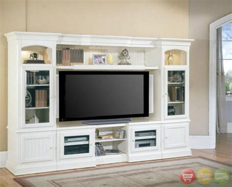 wall units hartford 4 piece traditional vintage white wall unit tv