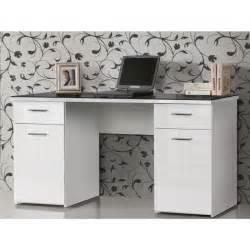 net bureau plateau verre contemporain blanc et noir l