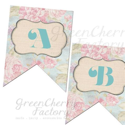 printable banner letters baby shower printable party banner bridal shower banner up to 18