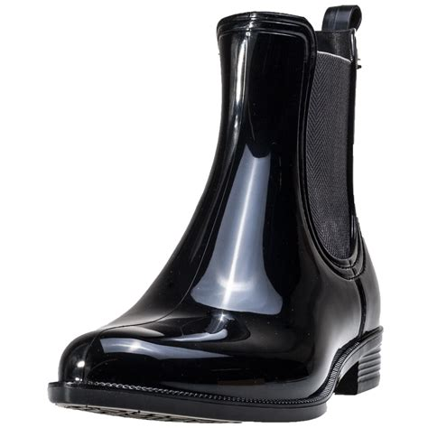 hilfiger odette 6r womens chelsea boots in black patent