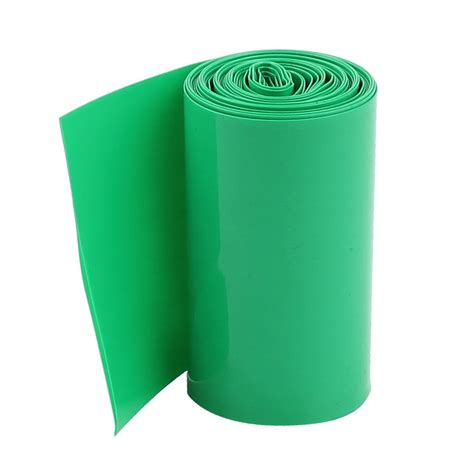 2 x 2m bettdecke 2m 50mm green pvc heat shrink tubing wrap for 2 x