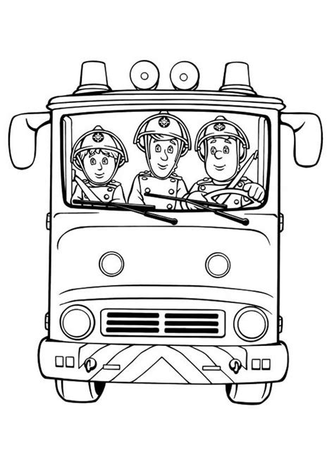 Fireman Sam Coloring Pages by Fireman Sam Fireman Sam And Friends On Trucks