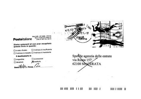 lettere agenzia delle entrate lettera per l agenzia delle entrate torna al mittente
