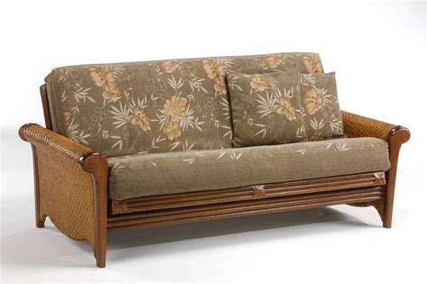 futon frame rosebud rattan futon frame by day furniture