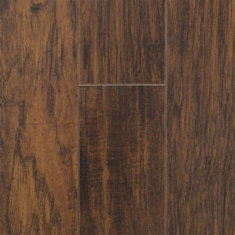 Laminate Flooring Rising Up by Traffic Master Farmstead Hickory 12 Mm Thick X 6 06 In
