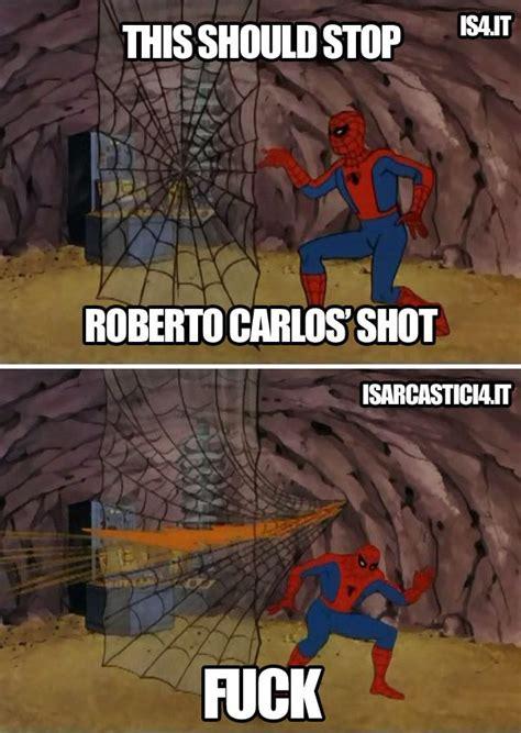 Brazil Soccer Meme - spiderman vs roberto carlos meme football soccer