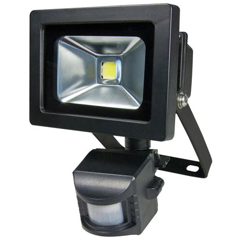 Outdoor Lighting Security 10w Led Waterproof Motion Sensor Outdoor Security Light Garden Floodlight Black Ebay
