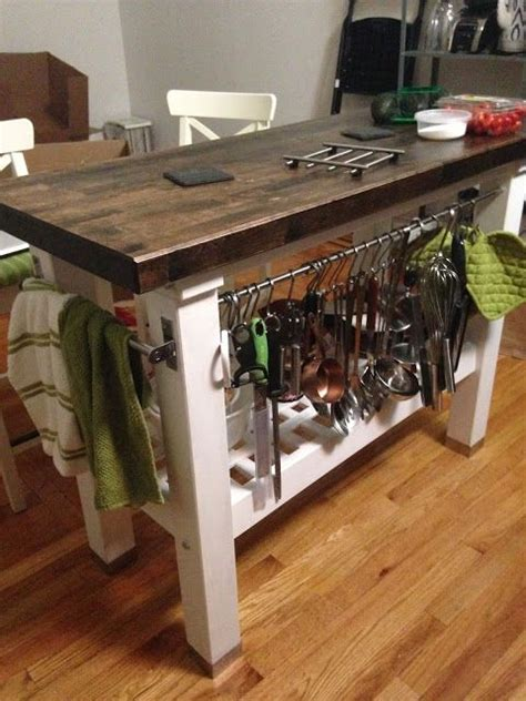bake and baste how to stain and finish a rustic kitchen island ikea groland projects