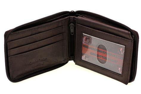 Wallet Zipper mens bifold wallet zipper closed zip around flap up