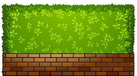 Brick fence with plants png clipart best web clipart