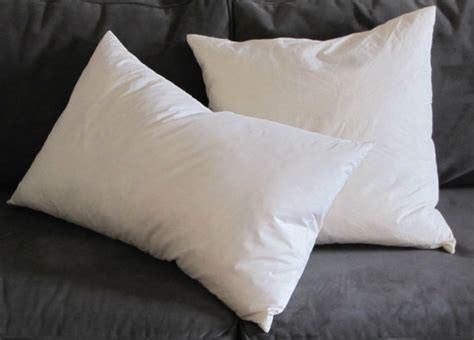 pillow insert pillow form duck feather filling ivory cotton